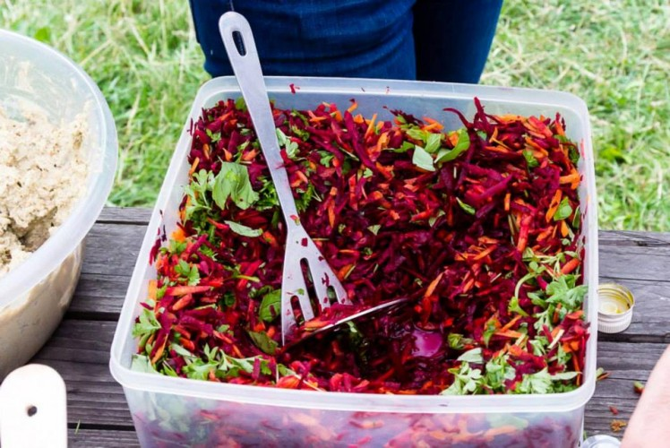 Colourful beetroot salad