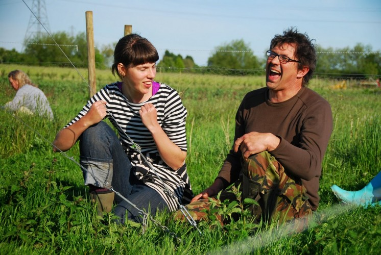 Yesss the turbine is up... whats so funny Farmer Paul?
