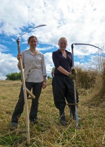 Happy reapers at our Rye harvest in 2013